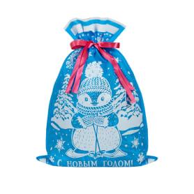 Мешочек с лентой 40x45 см цвет голубой