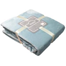 Плед «Тропикана» 180x200 см фланель цвет голубой
