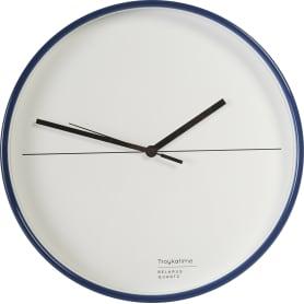 Часы настенные «Геометрия» цвет синий Ø30 см