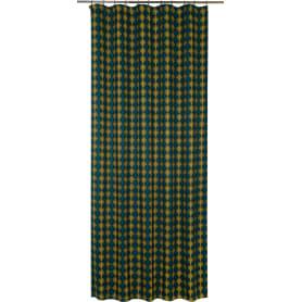 Штора на ленте «Модерн» 145x260 см геометрия цвет зелёный