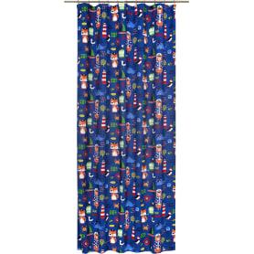 Штора на ленте «Пираты» 145х260 см цвет синий