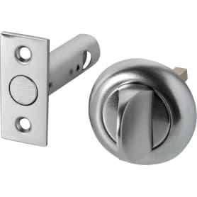 Задвижка дверная, сталь, цвет хром