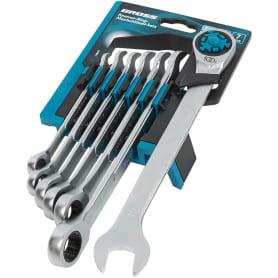 Набор комбинированных ключей с трещоткой Gross СRV 8-19 мм, 7 шт.