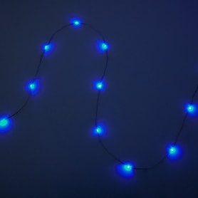 Электрогирлянда светодиодная «Роса» 100 ламп 10 м, цвет голубой