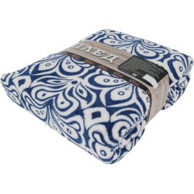 Плед «Версаль» 200х220 см микрофибра цвет синий