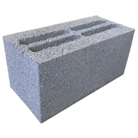 Блок стеновой керамзитобетонный 390x190x190 мм
