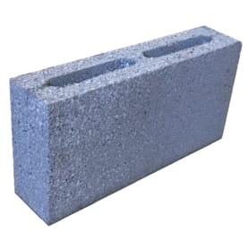 Блок перегородочный керамзитобетонный 390x190x90 мм