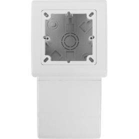 Коробка распределительная одноместная 80x20 мм цвет белый