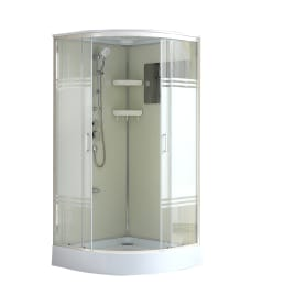 Душевая кабина Sensea Aurora 1/4 круга низкий поддон 100х100 см