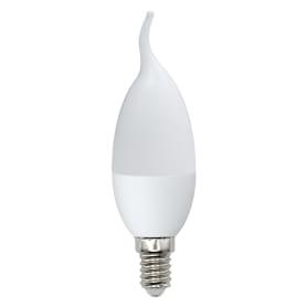 Лампа светодиодная Optima E14 220 В 6 Вт свеча на ветру матовая 450 лм тёплый белый свет