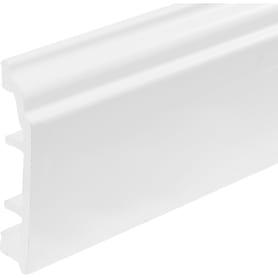Плинтус напольный вспененный ПВХ под покраску высота 80 мм длина 2.5м цвет белый