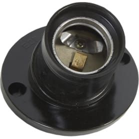 Патрон-стойка бакелитовая Oxion E27 наклонная цвет чёрный