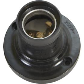 Патрон-стойка бакелитовая Oxion E27 прямая цвет чёрный