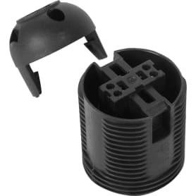 Патрон-полувинт пластиковый Oxion E27 цвет чёрный