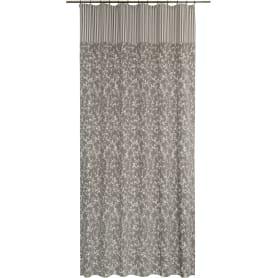 Штора на ленте Daily, 160x280 см, цветы, цвет серый