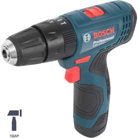 Дрель-шуруповерт аккумуляторная Bosch GSB 120, 12 В Li-ion 2x2 Ач