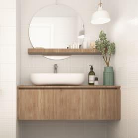Плитка настенная «Структура» 3D 20x30 см 1.44 м² цвет белый матовый