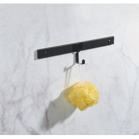 Крючок одинарный Lund для рейлинга цвет чёрный