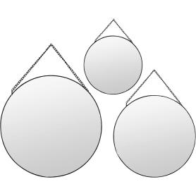 Зеркало декоративное круглое цвет чёрный 3 шт.