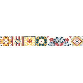 Бордюр настенный Azori «Festa Maiolica» 50.5x6.2 см разноцветный