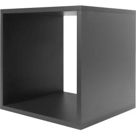 Стеллаж КУБ 1 секция 36х36х32 см ЛДСП цвет графит