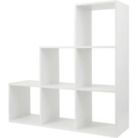 Стеллаж КУБ 6 секций 105х105х32 см ЛДСП цвет белый