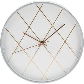 Часы настенные «Ромбы в белом» 30 см