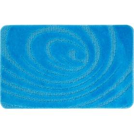 Коврик для ванной комнаты Lemis 50x80 см цвет голубой