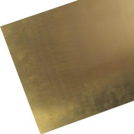 Лист гладкий Л63м 0.5х300х600 мм, латунь