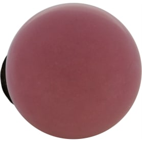 Ручка-кнопка мебельная KF12-16, керамика, цвет розовый