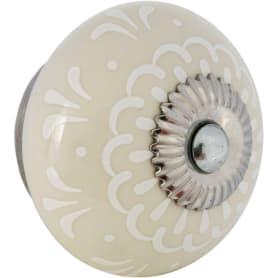 Ручка-кнопка мебельная KF13-17, керамика, цвет бежевый