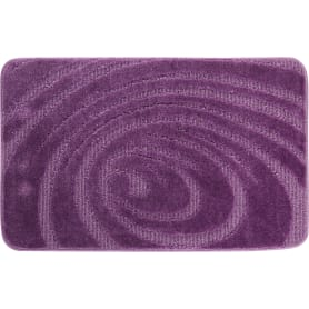 Коврик для ванной комнаты Lemis 50x80 см цвет лиловый