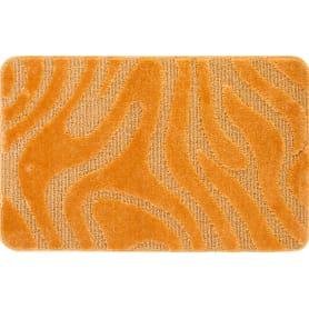 Коврик для ванной комнаты Lemis 50x80 см цвет оранжевый