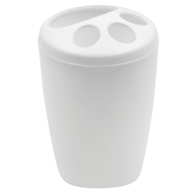 Подставка для зубных щёток Aqua пластик цвет белый
