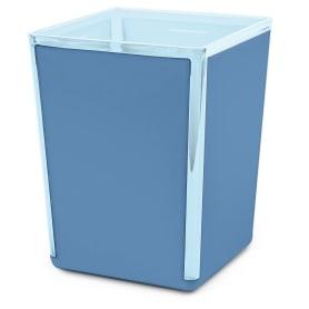 Стакан для зубных щёток Spacy пластик цвет васильковый/голубой