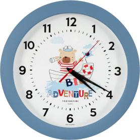 Часы настенные «Мишка» круглые 29 см цвет морской