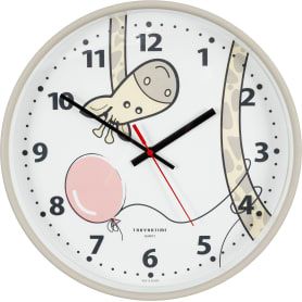 Часы настенные «Жираф» круглые 30 см цвет бежевый