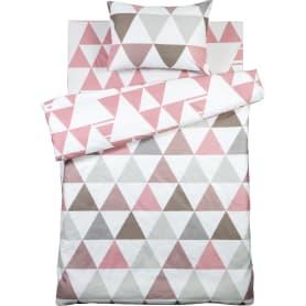 Комплект постельного белья Lahti полутораспальный сатин цвет розовый/серый