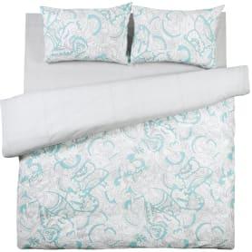 Комплект постельного белья «Бирюза» евро поплин цвет бирюзовый