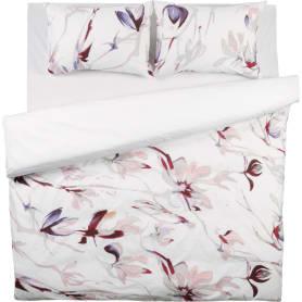 Комплект постельного белья Bloom евро поплин цвет белый/коричневый