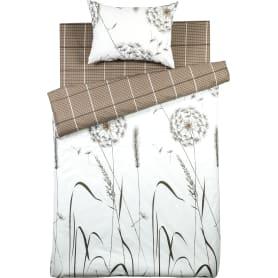 Комплект постельного белья Surri полутораспальный поплин цвет чёрный