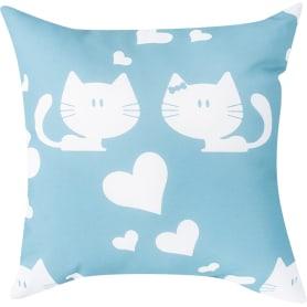 Подушка «Котик» 40х40 см цвет синий
