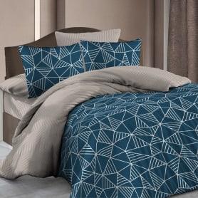 Комплект постельного белья «Декор» полутораспальный бязь цвет синий