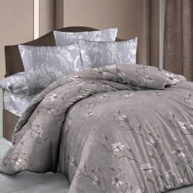 Комплект постельного белья «Нежная магнолия» полутораспальный бязь цвет бежевый