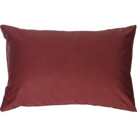 Наволочка 50х70 см сатин цвет терракотовый