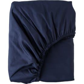 Простыня евро Mona Liza Premium, 200x220 см, сатин, цвет тёмно-синий