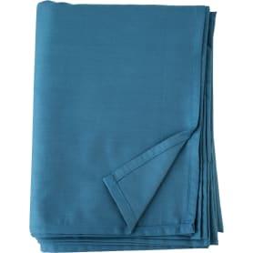 Простыня двуспальная Mona Liza Premium, 215x180 см, сатин, цвет сине-голубой