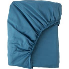 Простыня полутороспальная Mona Liza Premium, 200x160 см, сатин, цвет сине-голубой