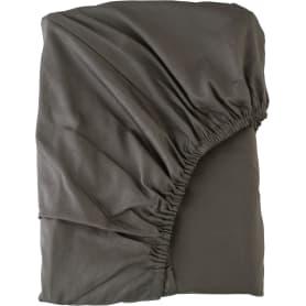 Простыня полутороспальная Mona Liza Premium, 215x150 см, сатин, цвет графитный