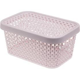 Корзинка для хранения «Пирула» 1.5 л цвет розовый